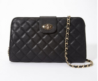 Forever21 Quilted Faux Leather Convertible Bag