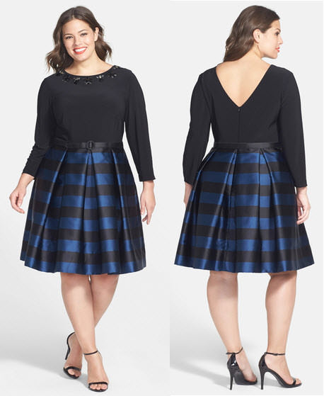 Eliza J Embellished Mock Two-Piece Dress Plus Size