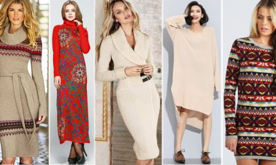 Rochii tricotate elegante - Modele pentru toamna iarna 2015-2016