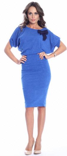 rochie pulover albastru royal