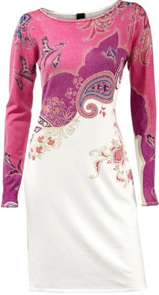 rochii tricotate elegante cu imprimeu paisley lungime pana la genunchi by Best Connections