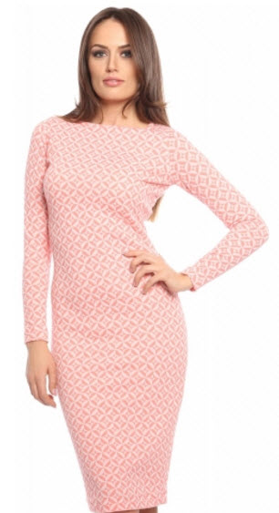 rochii tricotate elegante midi cu maneca lunga de la Carmencita