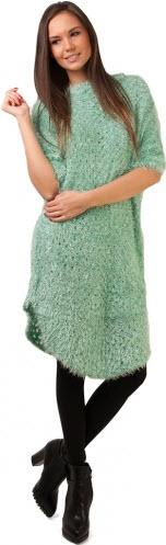 rochii tricotate pufoase din lana menta