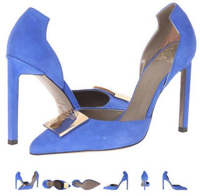 Pantofi Versace Collection LSD4490 LCAM albastru