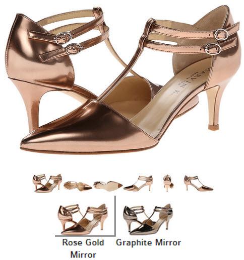 Pantofi cu toc roz auriu sau grafit Aquatalia by Marvin K. Ophelia