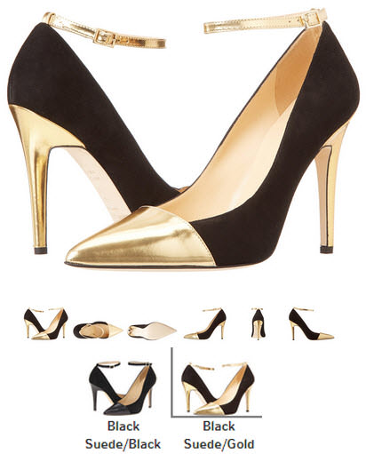 Pantofi stiletto auriu cu negru Kate Spade New York Liza