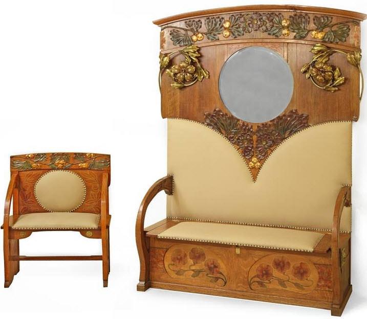 Art Nouveau Chair and Sofa Seat from Esteva i Cia. ca.1900