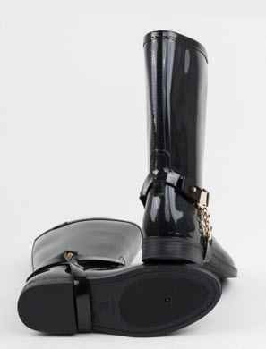 cizme de cauciuc ieftine online negre cu catarama
