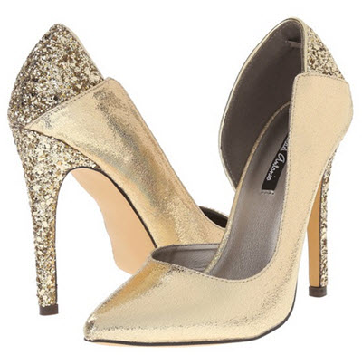 pantofi cu toc auriu Michael Antonio Leje