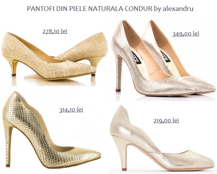 pantofi din piele naturala CONDUR by alexandru
