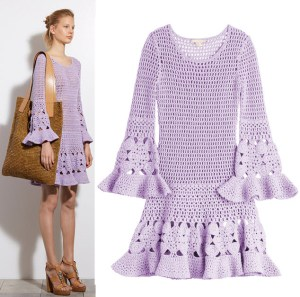 MICHAEL KORS ~ Cashmere-Cotton Crochet Dress