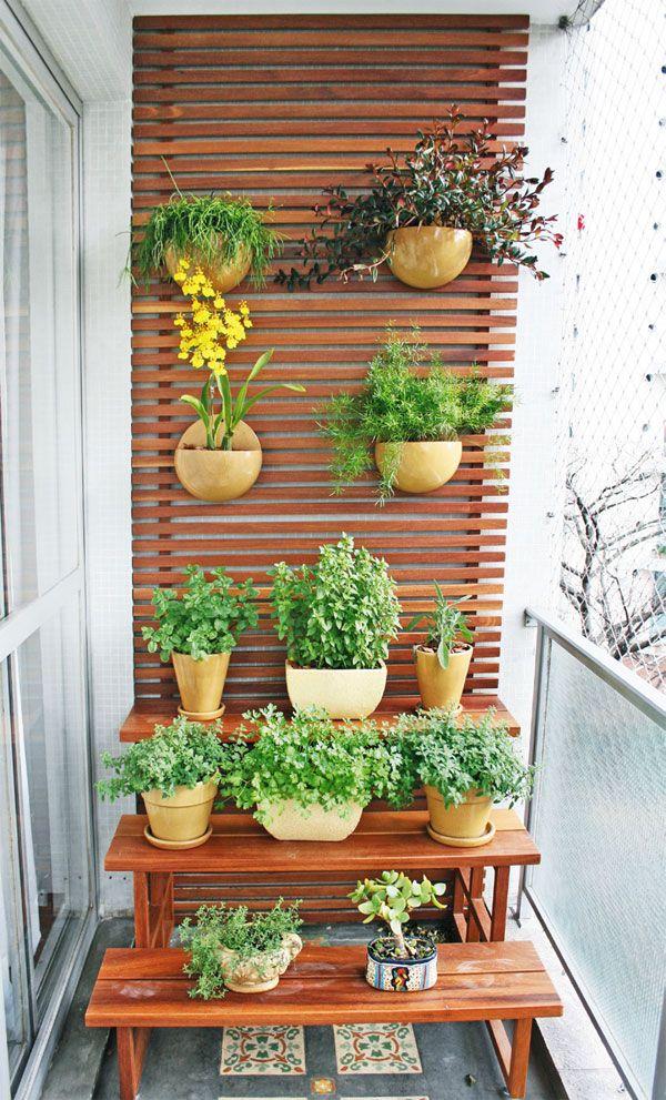 amenajarea balconului cu plante naturale