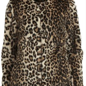 haine de blana print leopard Vila