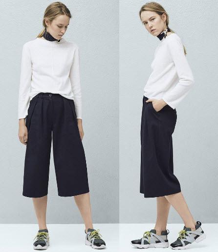 fusta pantaloni Mango negri