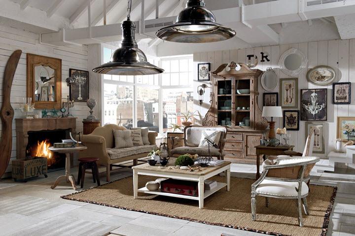 amenajare 2 living cu mobilier si decoruri Dialma Brown