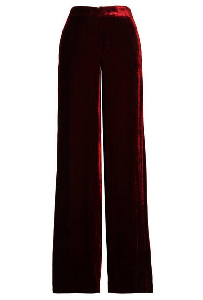ETRO Velvet wide-leg pants