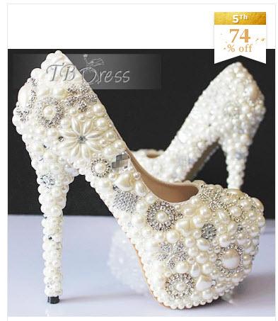 pantofi pentru mireasa cu perle si cristale