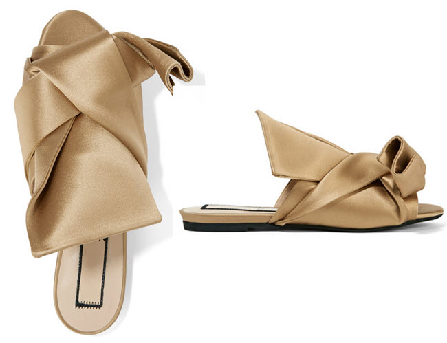 sandale NO. 21 Knotted satin sandals