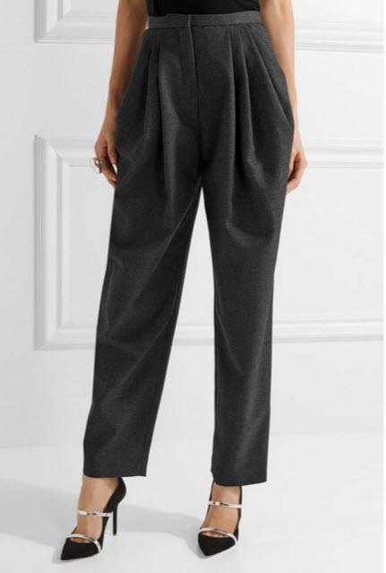 Pantaloni VIKA GAZINSKAYA Pleated wool-twill tapered