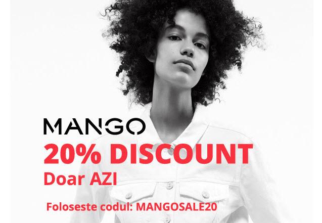 Azi la Fashion Days promotie MANGO 20% discount