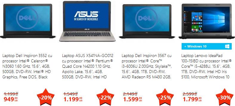 Superstars Laptopuri emag iunie 2017