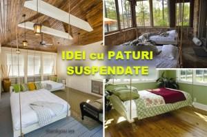 Paturi suspendate de tavan – idei practice inedite pentru un altfel de dormitor