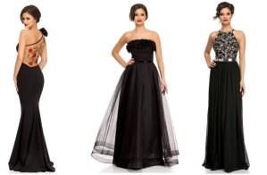 Rochii negre lungi de seara pentru nunti si revelion