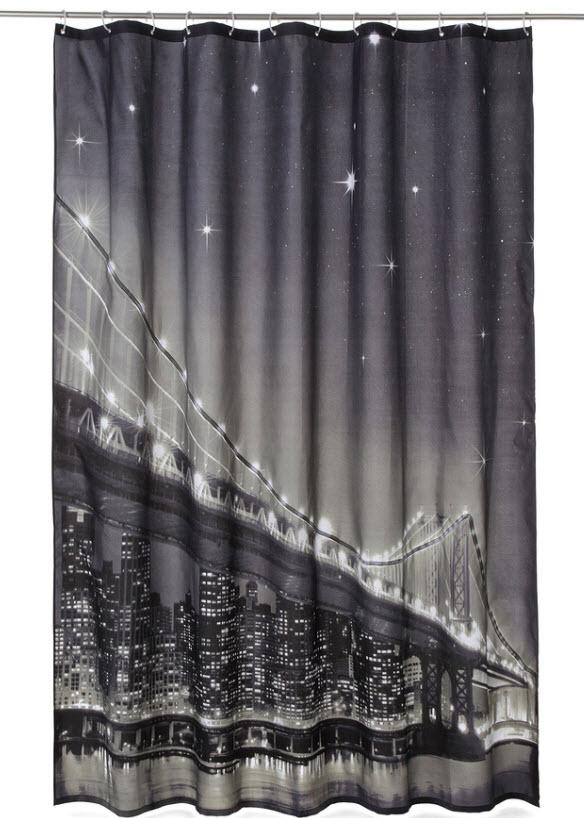 Draperie duş cu LED Brooklyn Bridge