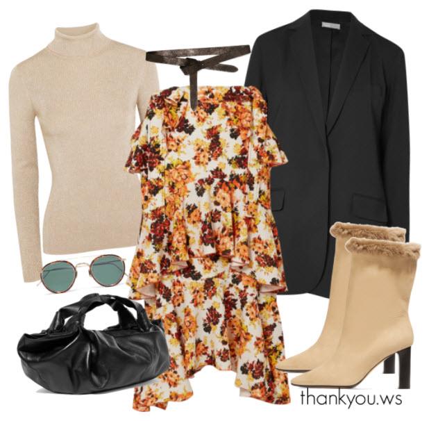 outfit de iarna elegant cu sacou extrasize