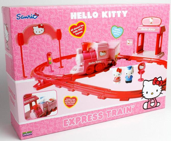 Set tren Express Hello Kitty din categoria Seturi de joaca