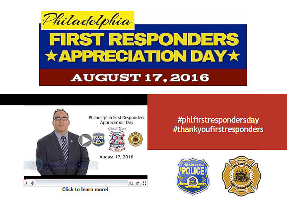 Thank You First Responder Supports Philadelphia First Responder Appreciation Day