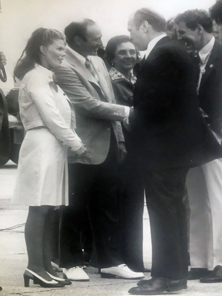 Anita Mitchell with President Gerald Ford 1975