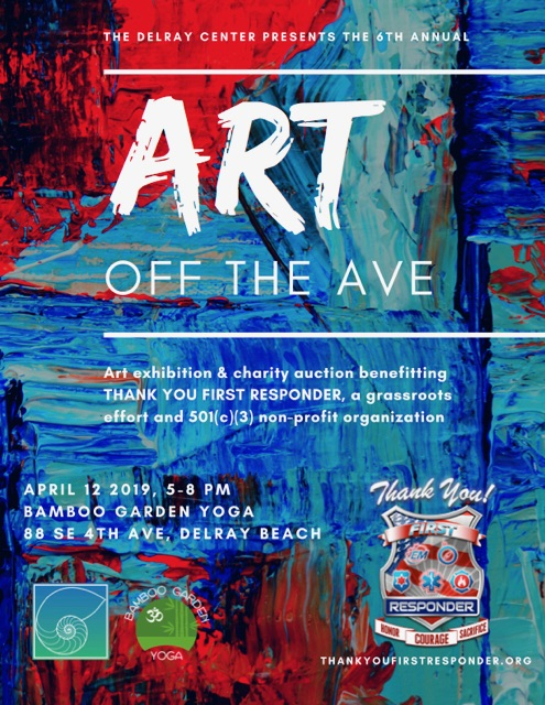 [Press Release] Thank You First Responder Honored at The Delray Center's 6th Annual Art Exhibition & Charity Auction