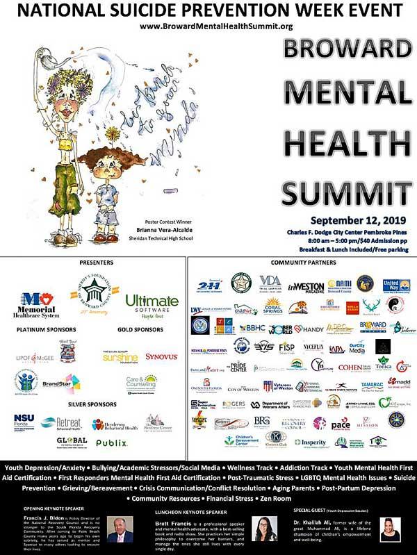 Broward Mental Health Summit 2019 Flyer