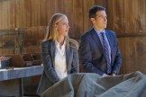 """BONES: L-R: Guest star Kim Raver and John Boyd in the """"The Brother in the Basement"""" episode of BONES airing Thursday, Oct. 8 (8:00-9:00 PM ET/PT) on FOX. ©2015 Fox Broadcasting Co. Cr: Kevin Estrada/FOX"""