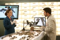 "BONES: L-R: Emily Deschanel and guest star Ignacio Serricchio in the ""The Murder Of The Meninist"" episode of BONES airing Thursday, April 21 (9:00-10:00 PM ET/PT) on FOX. ©2016 Fox Broadcasting Co. Cr: Patrick McElhenney/FOX"