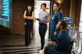 """BONES: L-R: Tamara Taylor, Michaela Conlin, Emily Deschanel and TJ Thyne in the """"The Price for the Past"""" episode of BONES: THE FINAL CHAPTER airing Tuesday, Jan. 24 (9:01-10:00 PM ET/PT) on FOX. ©2016 Fox Broadcasting Co. Cr: Kevin Estrada/FOX"""