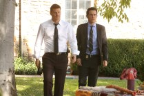 """BONES: L-R: David Boreanaz and John Boyd in the """"The Final Chapter: The Radioactive Panthers in the Party"""" episode of BONES airing Tuesday, March 14 (9:01-10:00 PM ET/PT) on FOX. ©2017 Fox Broadcasting Co. Cr: Patrick McElhenney/FOX"""