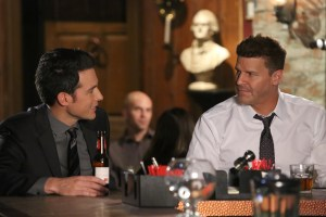 "BONES:  L-R:  John Boyd and David Boreanaz in the ""The Final Chapter:  The Radioactive Panthers in the Party"" episode of BONES airing Tuesday, March 14 (9:01-10:00 PM ET/PT) on FOX.  ©2017 Fox Broadcasting Co.  Cr:  Patrick McElhenney/FOX"