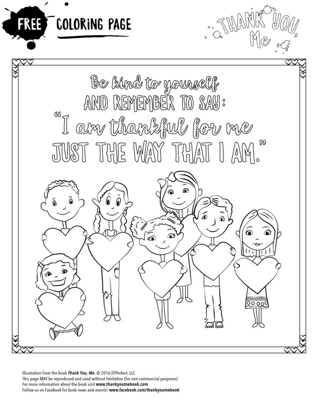 Be Kind - Coloring Page - Thank You, Me
