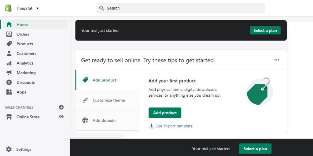 طريقة إنشاء متجر إلكتروني وشرح كامل بالخطوات عن متجر شوبيفاي Shopify