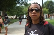 """Shiya Poole, 20, Journalism and Mass Communications - """"It was a lil' incident in Baltimore I had got discriminated against, they [police] thought I had some drugs or some shit like that."""""""