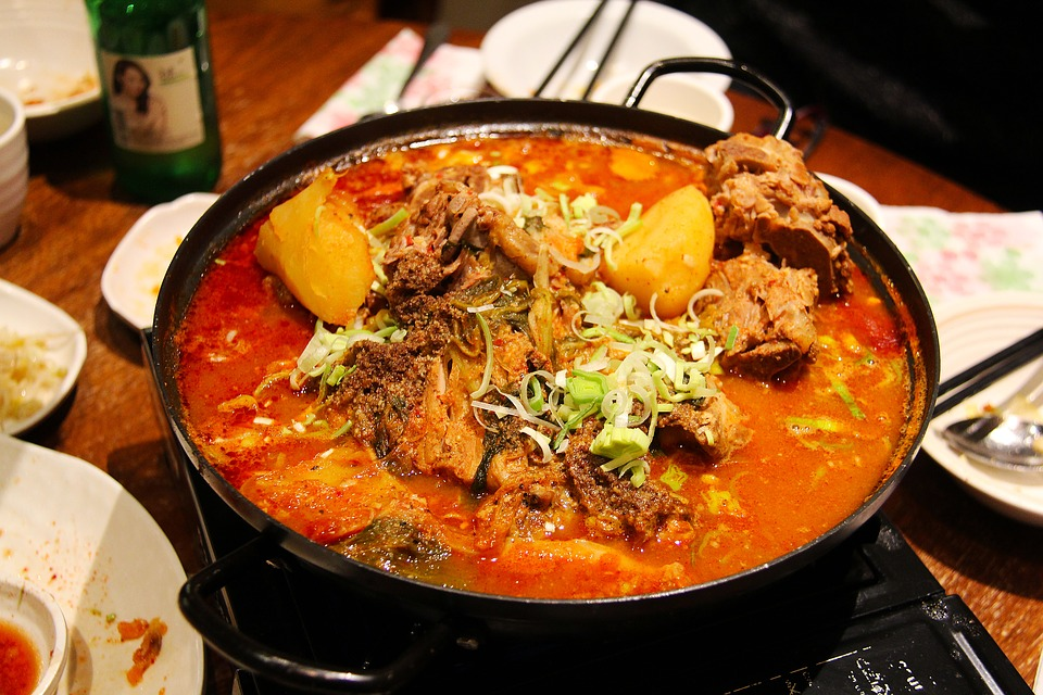A bowl of spicy-looking curry