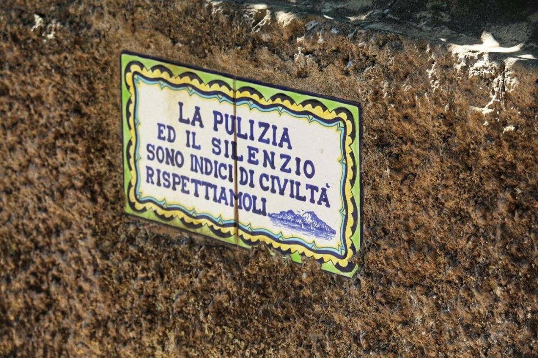 street sign capri