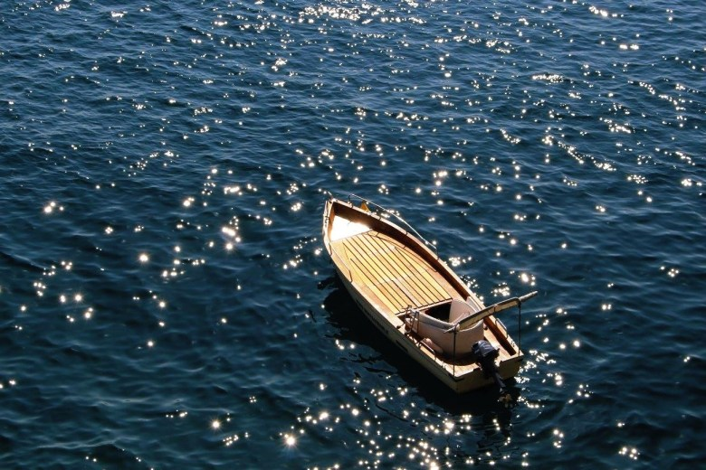 boat in the sea amalfi italy