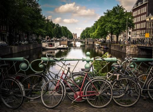 View of Amsterdam Netherlands