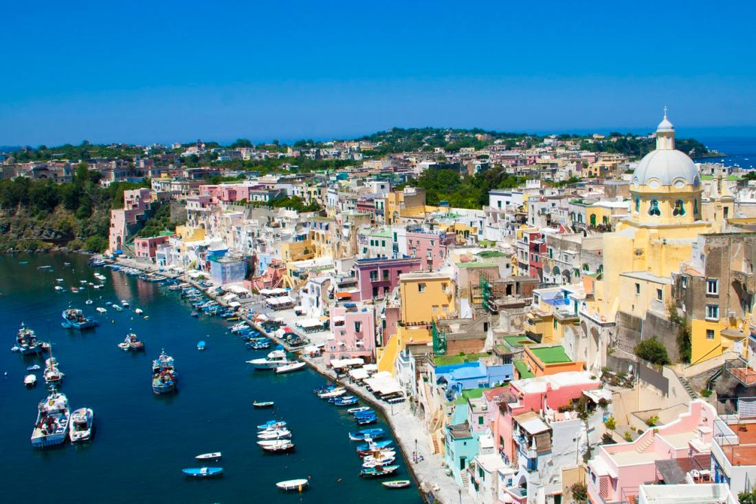 View of Procida Italy