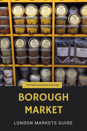 Your guide to London's Borough Market, the best place for food in the city. Tips, recommendations, traders, and directions (including a more scenic way to get there!) - find out what to expect, and get your taste buds going! https://thatanxioustraveller.com #travel #london #food #market #guide