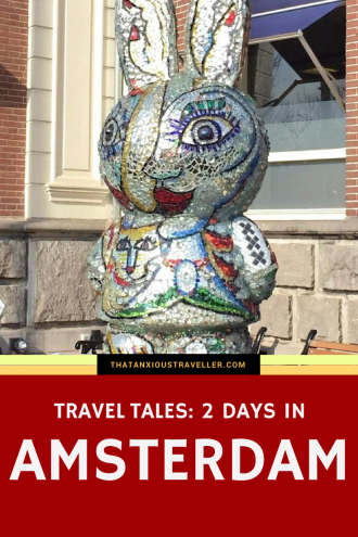 2 Days In Amsterdam - Travel Tales. Have a read, and enjoy a tale of my weekend in Amsterdam. Tips! Sights! Anarchists! Angry cats! It's all here. https://thatanxioustraveller.com #travel #netherlands #amsterdam #europe