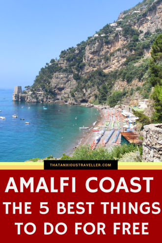 Amalfi Coast - The 5 Best Things To Do For Free - We all know that Italy's Amalfi Coast is one of the most beautiful regions in the world. We also all know that sometimes, you can pay a premium for that beauty. But what are the best things to do for free on the Amalfi Coast? Read on for how to see some amazing sights without paying a penny. https://thatanxioustraveller.com #europe #amalfi #italy #travel #free #budget